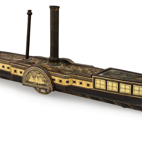 19mm x 17mm 14k Yellow Gold Train Engine Locomotive Pendant