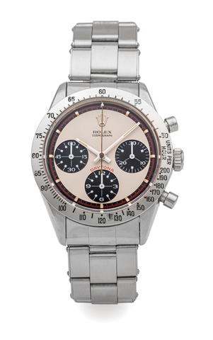ROLEX DAYTONA REF. 6239 STAINLESS STEEL EXOTIC DIAL SO CALLED «PAUL NEWMAN»