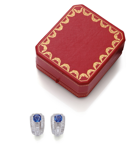 "SAPPHIRE AND DIAMOND ""ISTAMBOUL"" EARRINGS, CARTIER"