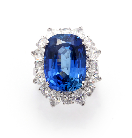SAPPHIRE AND DIAMOND RING, BULGARI